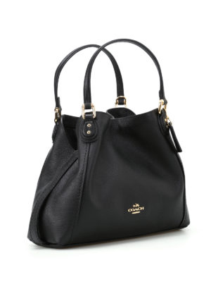 Coach: shoulder bags online - Edie 28 black grainy leather tote