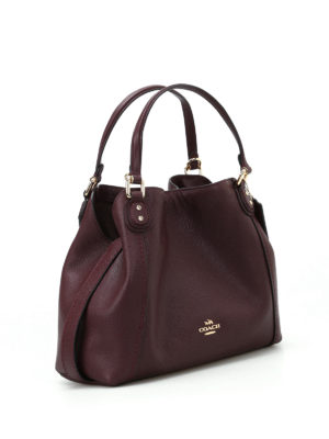 Coach: shoulder bags online - Edie 28 black purple leather tote