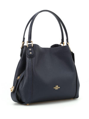 Coach: shoulder bags online - Edie 31 black leather shoulder bag