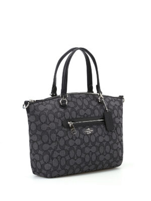 Coach: shoulder bags online - Prairie fabric and leather satchel