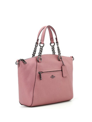 Coach: shoulder bags online - Prairie grainy leather satchel