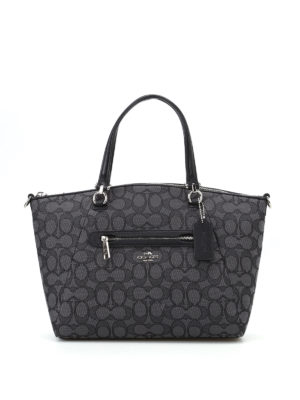 Coach: shoulder bags - Prairie fabric and leather satchel