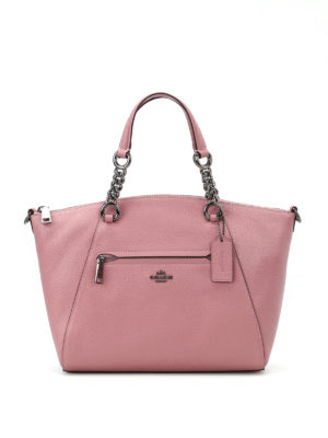 Coach: shoulder bags - Prairie grainy leather satchel