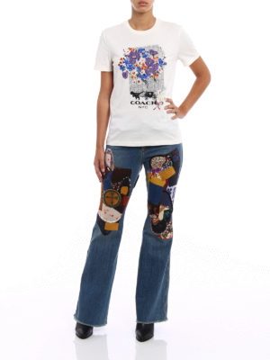 Coach: t-shirts online - Duck toy embellished white Tee