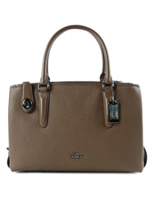 Coach: totes bags - Brooklyn 28 hammered leather tote