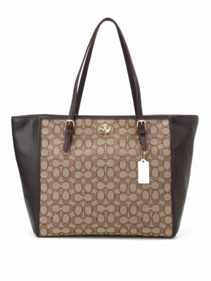 Coach: totes bags - CC fabric panels leather tote