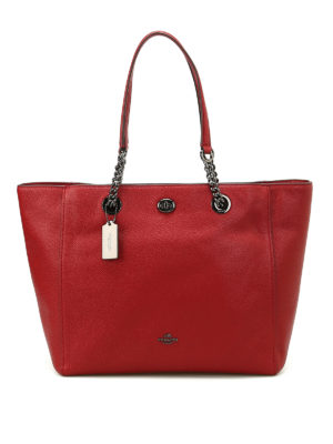 Coach: totes bags - Chain and leather handle tote