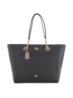 Coach: totes bags - Chain and leather handles bag