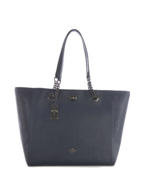 Coach: totes bags - Chain and leather handles tote