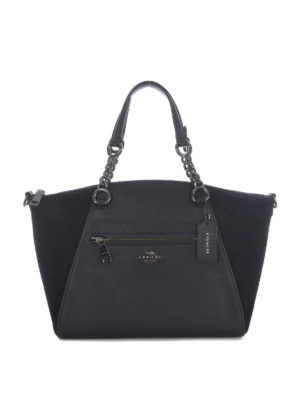 Coach: totes bags - Chain Prairie leather and suede bag
