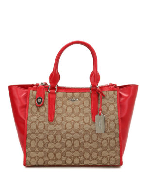 Coach: totes bags - Crosby leather and canvas carryall