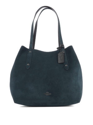 Coach: totes bags - Expandable suede shopper