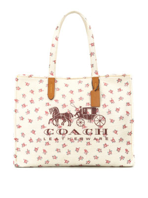 Coach: totes bags - Horse and Carriage canvas tote