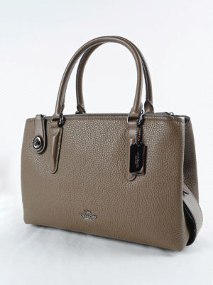 Coach: totes bags online - Brooklyn 28 hammered leather tote