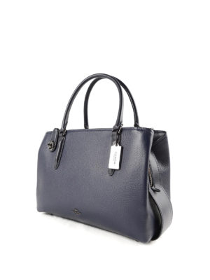 Coach: totes bags online - Brooklyn 34 hammered leather tote