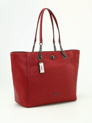 Coach: totes bags online - Chain and leather handle tote
