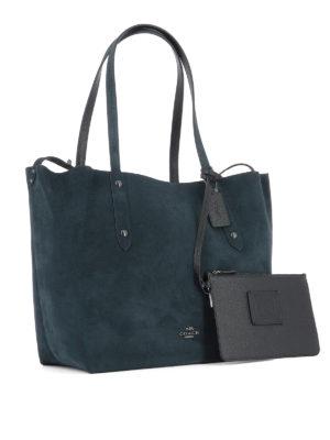 Coach: totes bags online - Expandable suede shopper