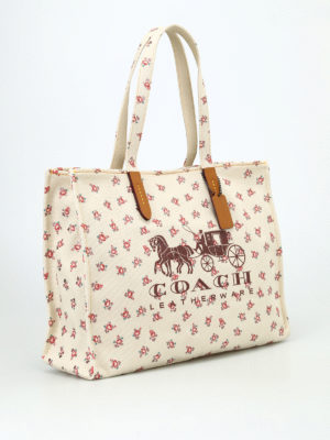 Coach: totes bags online - Horse and Carriage canvas tote