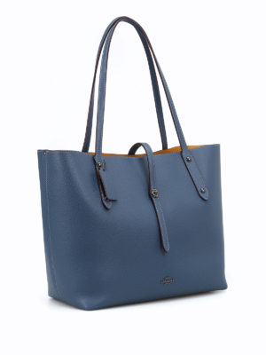Coach: totes bags online - Market leather large tote