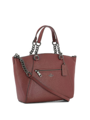 Coach: totes bags online - Prairie leather satchel