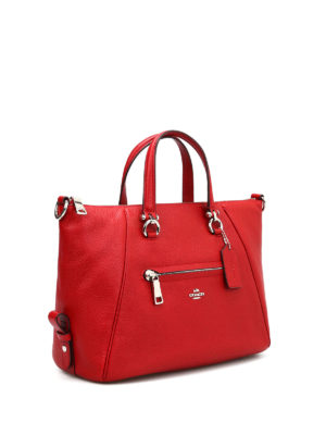 Coach: totes bags online - Primrose grained leather bag