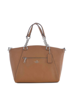 Coach: totes bags - Prairie hammered leather satchel