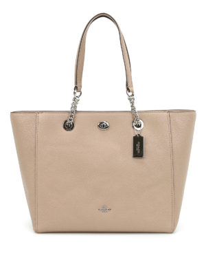 Coach: totes bags - Turnlock chain handle tote