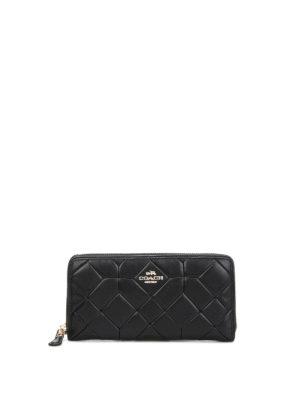 Coach: wallets & purses - Accordion matelasse leather wallet