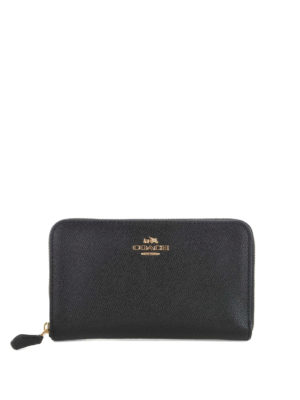 Coach: wallets & purses - Grain leather zip around wallet