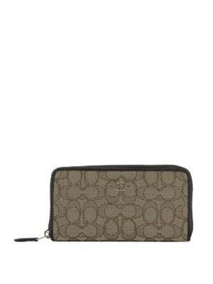 Coach: wallets & purses - Logo fabric zip around wallet