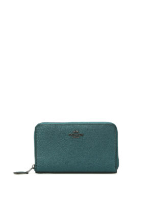 Coach: wallets & purses - Metallic grainy leather wallet