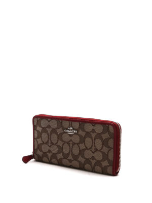 Coach: wallets & purses online - Accordion zip-around wallet