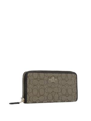 Coach: wallets & purses online - Logo fabric zip around wallet