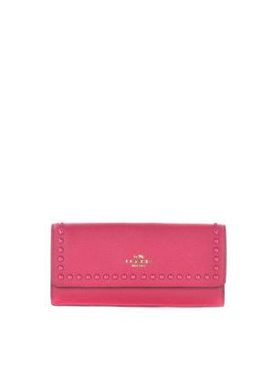 Coach: wallets & purses - Tonal stud detailed soft wallet
