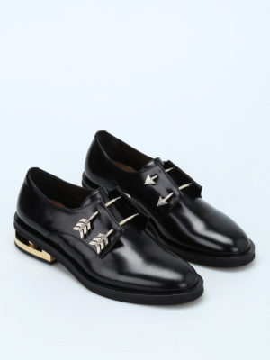 Coliac: Loafers & Slippers online - Arrow piercing Derby slip-ons