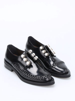 Coliac: Loafers & Slippers online - Rugby pearls and plaits slip-ons