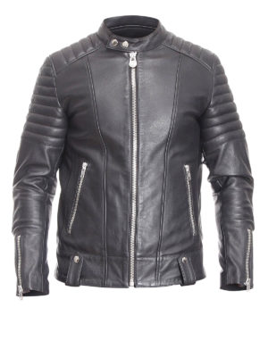 Colmar Originals: leather jacket - Biker style leather jacket