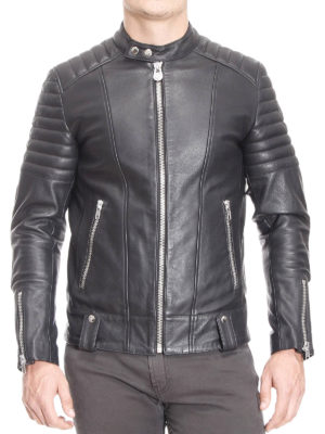 Colmar Originals: leather jacket online - Biker style leather jacket