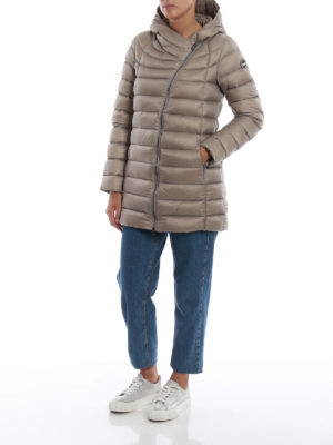 Colmar Originals: cappotti imbottiti online - Piumino beige Place con cappuccio