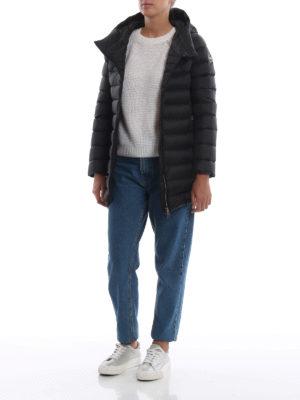 Colmar Originals: cappotti imbottiti online - Piumino corto nero Place con cappuccio