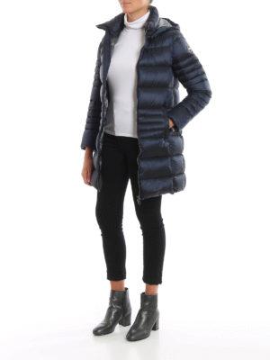Colmar Originals: cappotti imbottiti online - Piumino blu Place con cappuccio staccabile