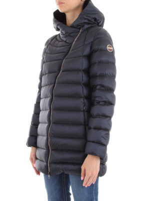 Colmar Originals: cappotti imbottiti online - Piumino corto blu Place con cappuccio