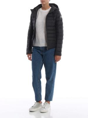 Colmar Originals: giacche imbottite online - Piumino trapuntato in nylon nero Empire