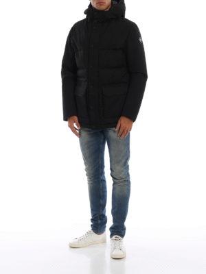 Colmar Originals: giacche imbottite online - Piumino in twill tecnico nero con cappuccio
