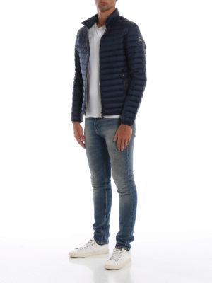 Colmar Originals: giacche imbottite online - Piumino blu con interno grigio chiaro
