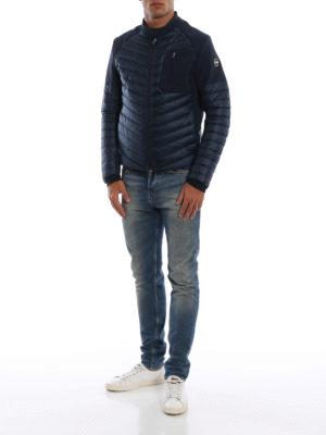 Colmar Originals: giacche imbottite online - Piumino blu con inserti effetto neoprene