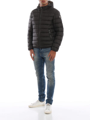 Colmar Originals: giacche imbottite online - Piumino idrorepellente marrone con cappuccio