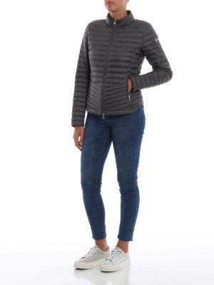 Colmar Originals: giacche imbottite online - Piumino antracite stile biker in nylon Floid