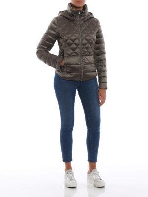 Colmar Originals: giacche imbottite online - Piumino beige lucido con cappuccio rimovibile