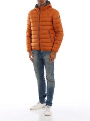 Colmar Originals: giacche imbottite online - Piumino idrorepellente arancio con cappuccio